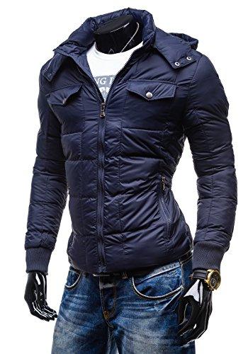 BOLF – Veste à capuche – Fermeture éclair – YCHROMOSOME 961 - Homme Bleu foncé