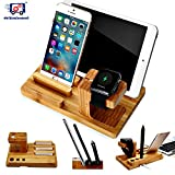 Best I Phone Docking Station - Delhisalesmart™ Genuine Natural [Elegant] Series Bamboo Wooden Mobile Review