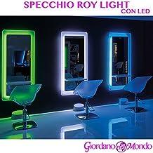 POSTAZIONE PER PARRUCCHIERE E BARBIERE SPECCHIO A LED ROY LIGHT ARREDAMENTO CERIOTTI (VERDE)