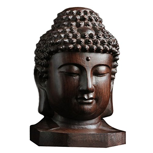 ULTNICE Estatua Buda madera Sakyamuni religiosa Estatua