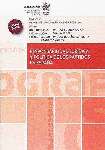 Responsabilidad Jurídica y Política de los Partidos en España (Monografías)