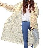 Damen Herren Trendy Kapuze Regenmantel Transparent Punkt Regenjacke