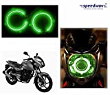 #4: Speedwav Bike Halo CCFL Tube Angel Eyes Light GREEN-Bajaj DTS-i Pulsar 180