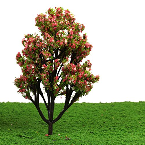 Model Railway Scenery Landscape Plastic Model Trees 1 100 Pack of 10 Green with Flowers and Fruits
