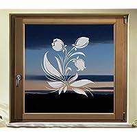 Folie Fenster Tattoo Aufkleber, kein Sichtschutz, Fensterfolie Glasdekor Deko Window wasserfest selbstklebende Folie GD41