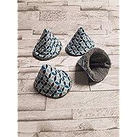 Lot de 4 tipi à pipi collection Les rosaces bleuté/gris/cone à pipi/écologique et réutilisables naissance cadeaux bébé T31