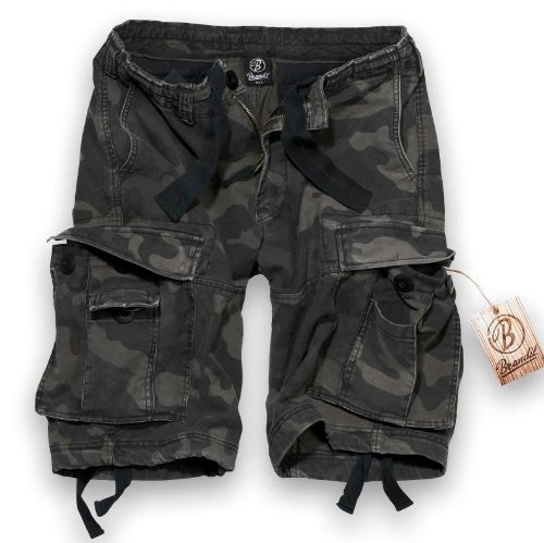 Klassische Klappe Tasche Jeans (Brandit Vintage Classic Shorts L Dunkles Camouflage)