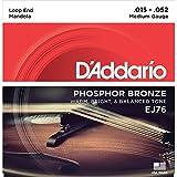 D'Addario EJ76 tamaño mediano 15-52 cuerdas para Mandola - bronce fósforo