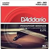 D\'Addario Cordes en bronze phosphoreux pour mandole D\'Addario EJ76, Medium, 15-52
