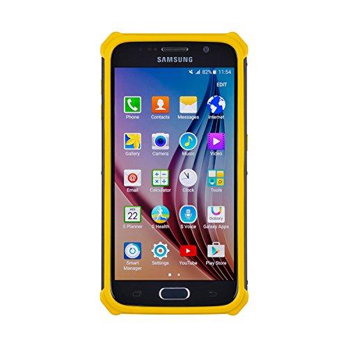 CAT Caterpillar Active Urban Clip-On Schutzhülle Case Cover für Samsung Galaxy S6 - Gelb Rot Cover Case Snap
