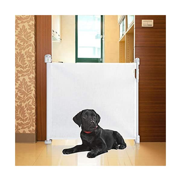 Bettacare Advanced Retractable Pet Gate White Bettacare Fits openings up to 120cm, and 90cm tall when installed Screw fitted mesh barrier with steel frame One-handed operation. Retractable gate that fully retracts when not in use 1