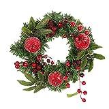 PRETYZOOM Coronas de Navidad para Puerta de Navidad Granada 30 cm