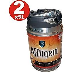 2 x Affligem rubia barril de 5 litros incl tambor. Espita 6,8% vol.