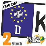 Eisernes Kreuz - Orden Kennzeichen Aufkleber Sticker Nummernschild - IN 15 FARBEN
