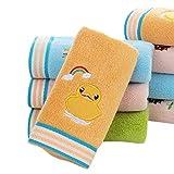 rokirs Baumwollkinder Tuch weiches saugfähiges Tiermuster Waschhandtuch Badtextilien