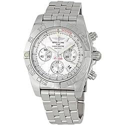 Breitling Men's AB011012/G684 Chronomat B01 Silver Chronograph Dial Watch