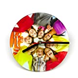 Wanduhr mit Fotodruck, Uhr mit eigenem Foto oder Motiv selbst gestalten- 20x20 cm Foto Küchenuhr aus Glas …