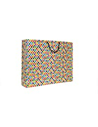A&A Printed Laminated Paper Bag (Pack Of 10) Size -13 * 17 * 4 Inch