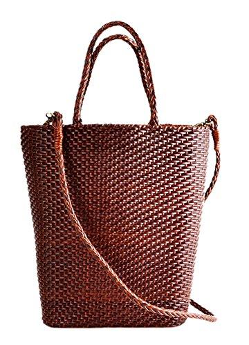 Insun ,  Damen Tasche , Braun - Kaffee - Größe: One Size