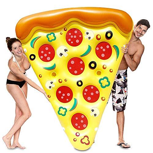 YSYDE Aufblasbare Pizza Slice Pool Float, umweltfreundliche PVC Sommer Pool Raft, Design Sieht bezaubernd aus, Sie können zusammen mit Ihren Freunden oder Familien Spielen