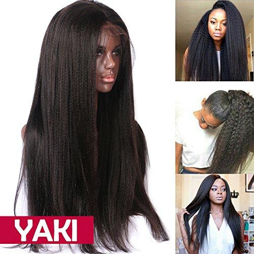 Perruque Cheveux Humain Bresilien Perruque Femme Lace Front Wig - Yaki Raide - 12 Pouces / 30cm