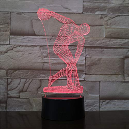 BFMBCHDJ Lanzar Discus 3D LED Lámpara escritorio