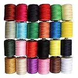 24 Stück mit 914 Meter Polyester Stick-Garn Nähgarn Set von Kurtzy - Verschiedene Leuchtende Farben zum Sticken und Nähen - Hochwertige Mehrfarbige Garnrollen - Großes Set