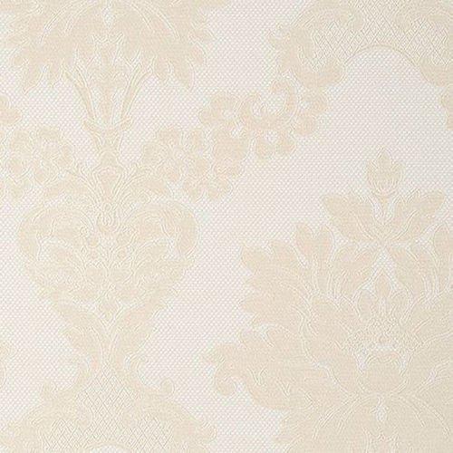 90611 - NEAPOLIS 2 DAMASK BEIGE & WHITE GALERIE WALLPAPER