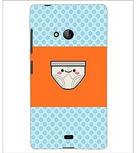 PrintDhaba Funny image D-4890 Back Case Cover for MICROSOFT LUMIA 540 (Multi-Coloured)
