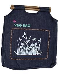 Multipurpose Washble Denim Grocery Bag/Fruit Vegetable Bag/General Use Bag/Shopping Bag/Luggage Bag | DCHW00-8