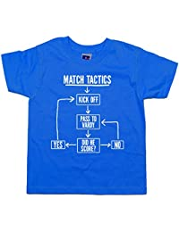 Balcony-Shirts Match Tactics - Pass To Vardy' Kids Funny Football T Shirt