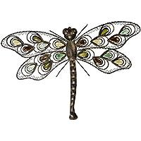 mica living wanddeko libelle aus metall 58 x 4 x 41 cm