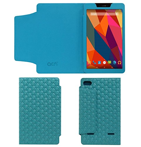 Acm Designer Tri-Fold Executive Leather Case for Micromax Canvas Tab P680 Tablet Flip Cover Turquoise  available at amazon for Rs.269