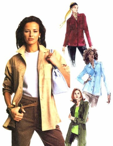 Misses Long Sleeve Shirts McCall's 3721 Sewing Pattern Size 4 - 14 Bust 29 1/2 - 36 by McCall's - Long Sleeve Pattern Shirt