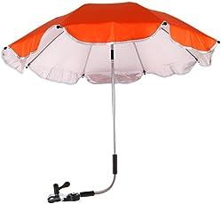 Chinatera Baby Boy's Pram Pushchair Buggy Shade Stroller Parasol Sunshade Stroller Umbrella with Universal Clamp One Size Orange Rose