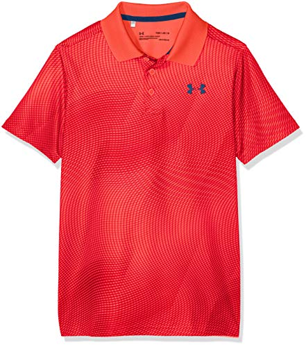 Under Armour Kinder Performance Novelty Poloshirt, Rot, YLG