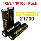 Bases 21700Batterie 4000mAh 30A Batterie 3,7V haute performance Flat Top. Très Haute Capacité.