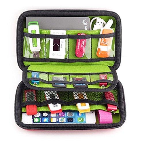 BAIGIO Unisex Tragbare Reisetasche für Electronisches Zubehöre Organizer Case Tasche Tragetasche Wasserdicht für USB Drive Shuttel Festplatte Kabel und sonstiges Zubehör Psp Spiel Taschen, Schwarz