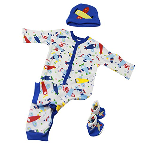 Baoblaze Puppenkleidung Puppe Strampler Overall Hut Hosen Für 22-23 Zoll Reborn Baby Mädchen Puppe - # 8