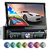 XOMAX XM-DTSBN932 Autoradio mit Navigation, Bluetooth, Touchscreen Bildschirm, DVD CD Player, USB, SD, 1DIN