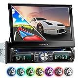 XOMAX XM-DTSBN932 Autoradio mit Navigation, Bluetooth , Touchscreen Bildschirm, DVD CD Player, USB, SD, 1DIN