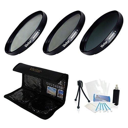 UltraPro 55mm Digital Hochauflösende ND8Filter Kit (UV, CPL, ND8) mit Deluxe Filter Tragetasche für die Sony fdr-ax534K Ultra HD Handycam Camcorder. UltraPro Deluxe Zubehör Set Enthalten Deluxe Camcorder