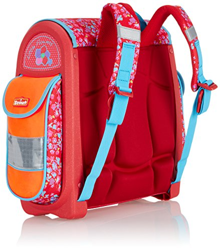 Scout Schulranzen-Set Basic Buddy Set 4 tlg Little Flowers 36 cm Rot 72400729000 - 3