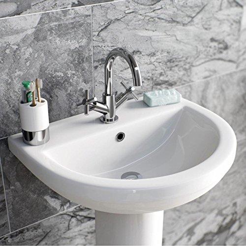 ENKI mezclador monomando para lavabo grifos mango Cruz Moderno Baño Lavabo Oxford