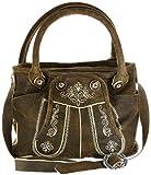 Bergheimer Trachten Damen Leder Umhänge-Trachtentasche PIA 1001 braun, Farbe:braun