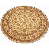 Runder Orientteppich Ziegler ca. 277 cm Ø Beige - feine Qualität - moderner Teppich - oriental round carpet Zigler best quality