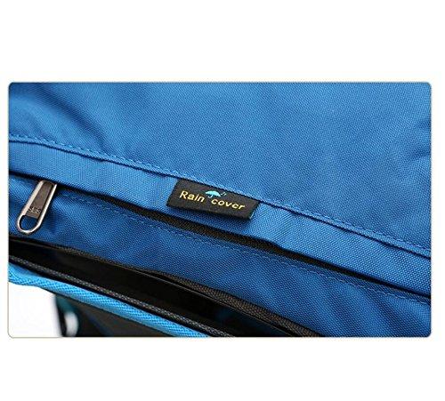 LF&F Alta Qualità Impermeabile Nylon 40L Grande Capacità Viaggi Escursioni A Piedi All'Aperto Alpinismo Sport Zaino Borse Scuola Teenager Scuola Borse Per Computer Portatili Daypack C 40L C