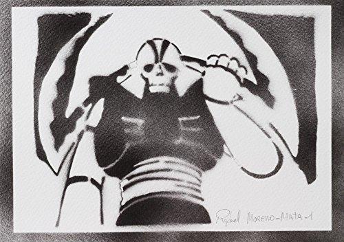 Robot Garada K7 Handmade Street - Artwork - Poster
