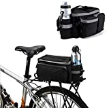 BicycleStore Mountain Road MTB Bicycle Bike Cycling Sport Waterproof 7L Rear Seat Bag Pannier Trunk Bag Bicycle Accessories Black