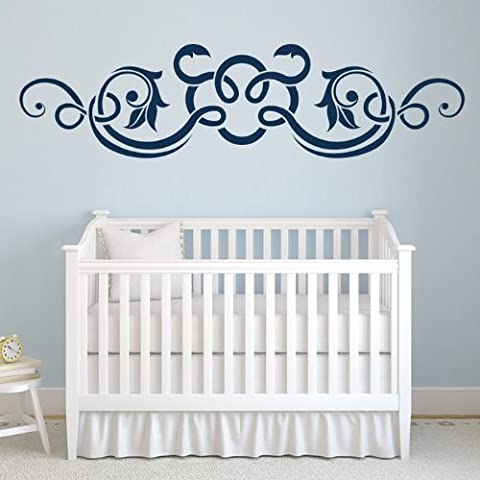 Branch Header Wall Sticker abbellimento Adesivo Art disponibile in 5 dimensioni e 25 colori Grande Turchese